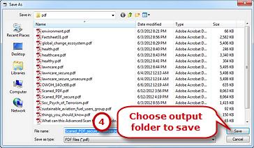 Save the Decrypted PDF