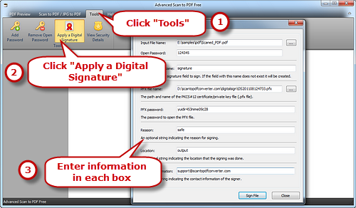 Apply Digital Signature to PDF